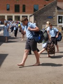 One day without shoes at Hazlegrove