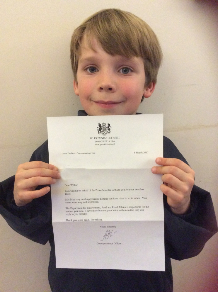 Wilbur wrote to the PM