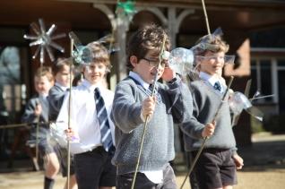 Carymoor making windmills
