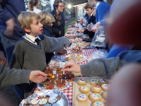 Upper School charity cake sale