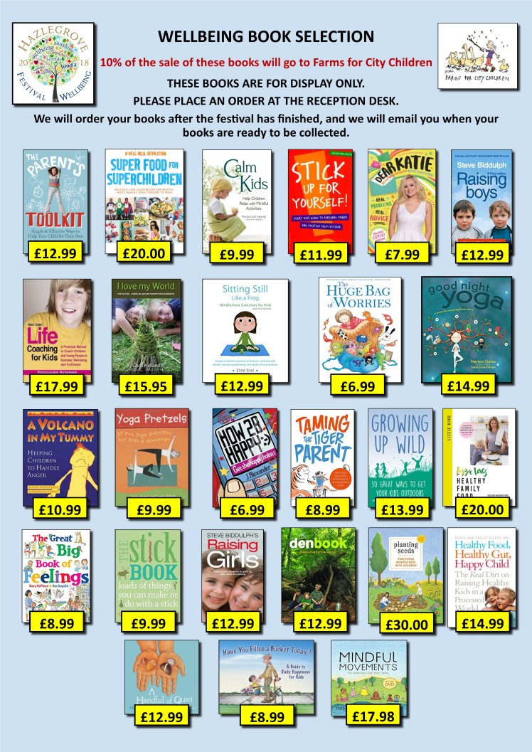 Wellbeing books poster