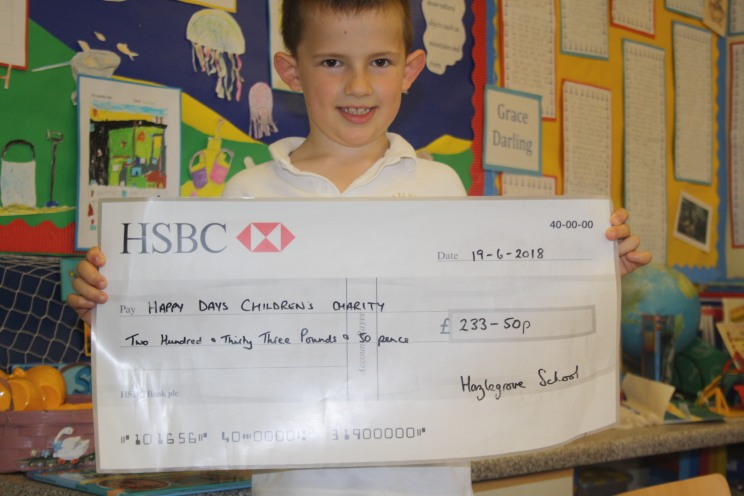 Year 2 raising money for Happy Days