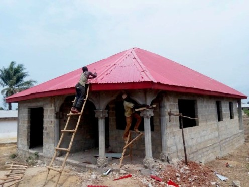 Samuel Tagba's new home being constructed